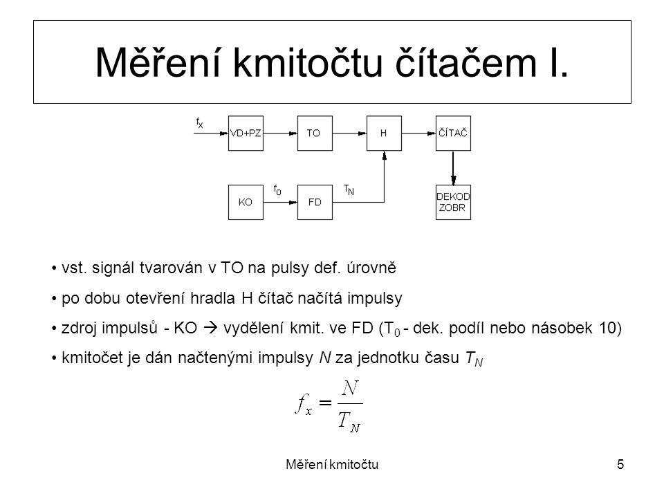 Měření kmitočtu čítačem I.