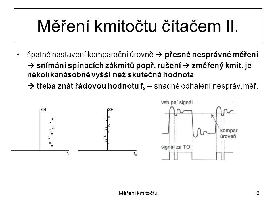Měření kmitočtu čítačem II.