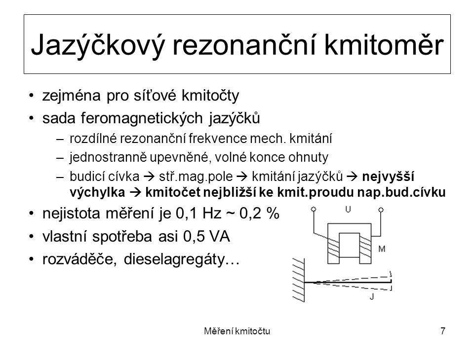 Jazýčkový rezonanční kmitoměr