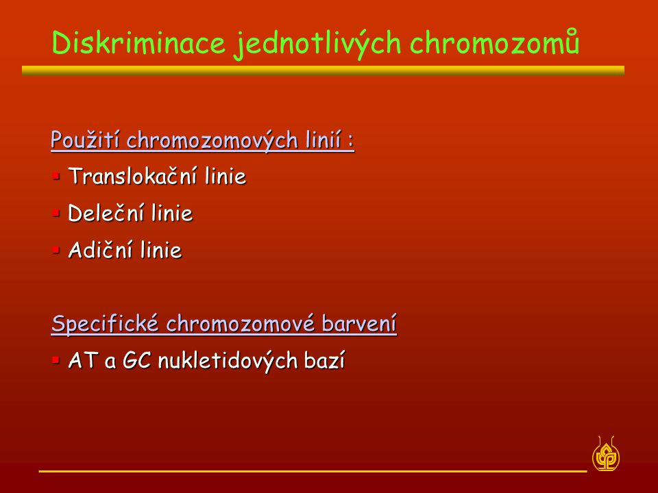 Diskriminace jednotlivých chromozomů