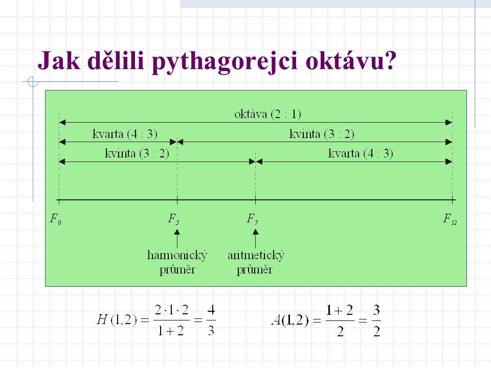 Jak dělili pythagorejci oktávu