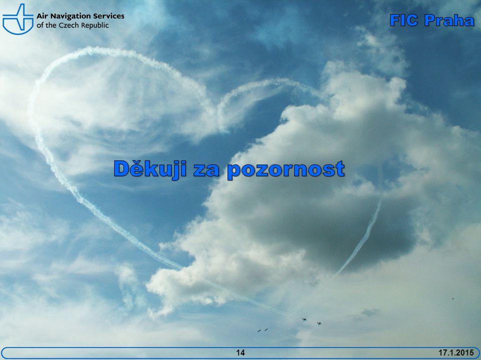 FIC Praha Děkuji za pozornost 14 17.1.2015