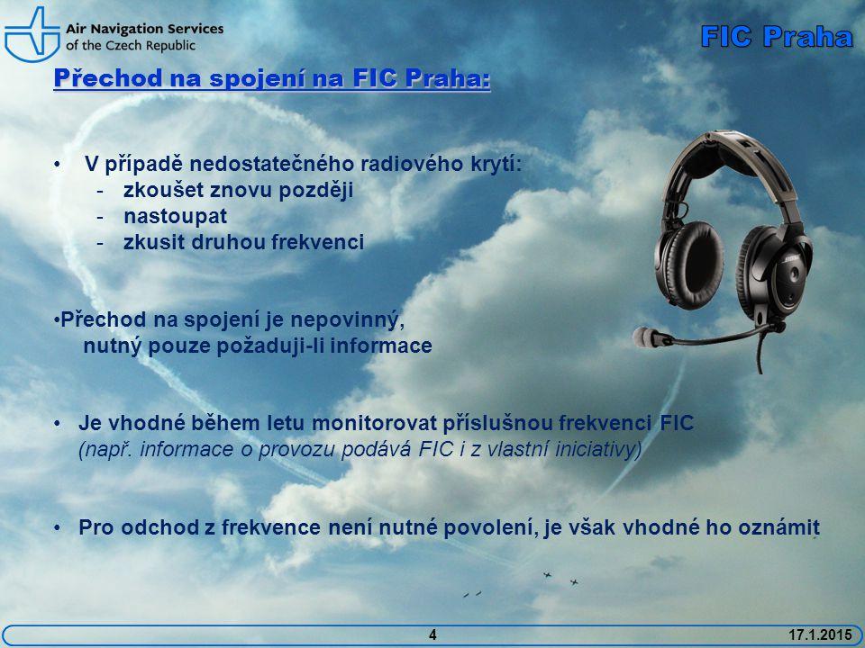 FIC Praha Přechod na spojení na FIC Praha: