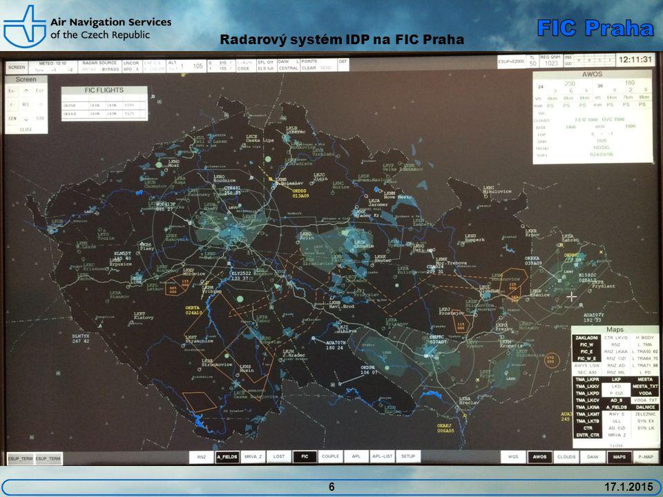 Radarový systém IDP na FIC Praha