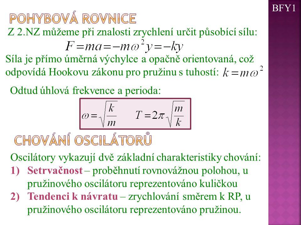 Pohybová rovnice chování oscilátorů
