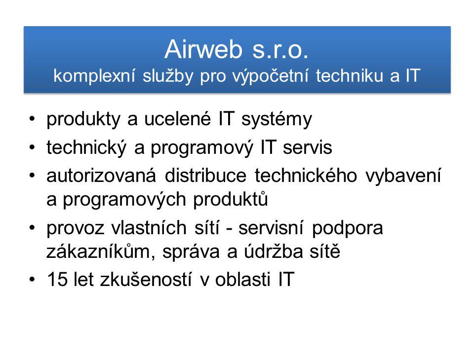Airweb s.r.o. komplexní služby pro výpočetní techniku a IT