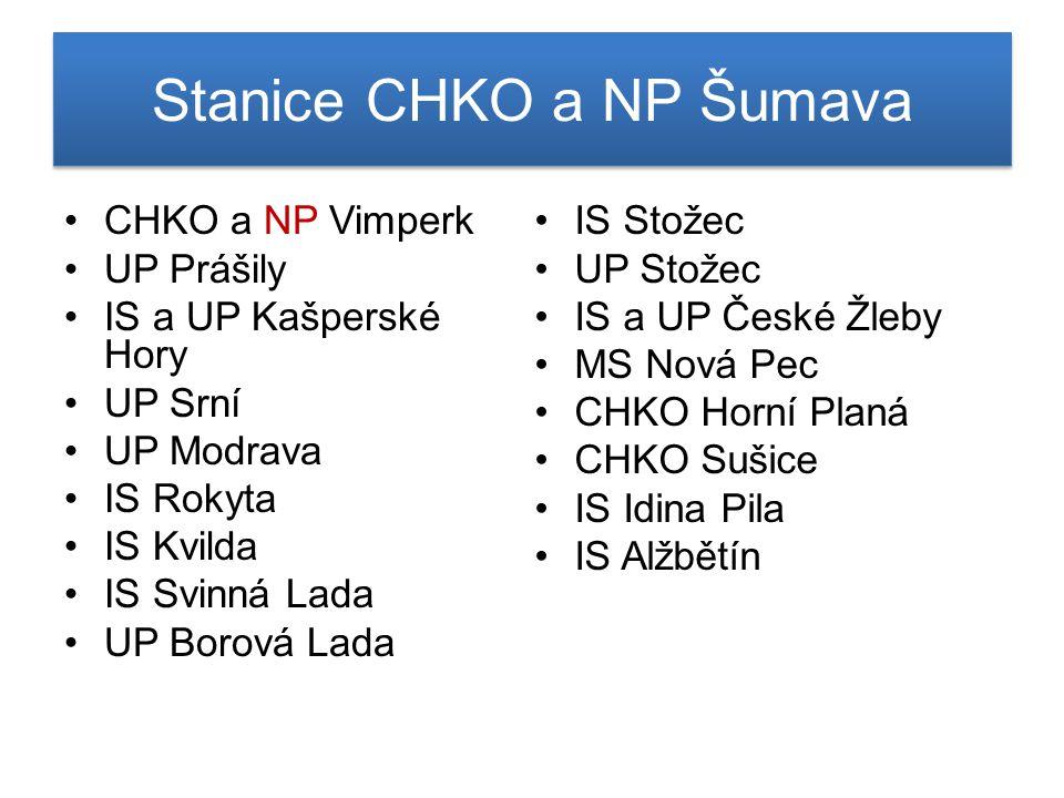 Stanice CHKO a NP Šumava