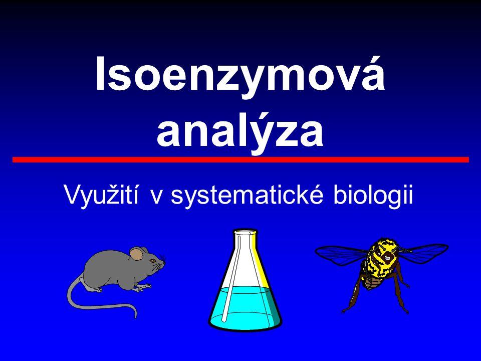 Využití v systematické biologii