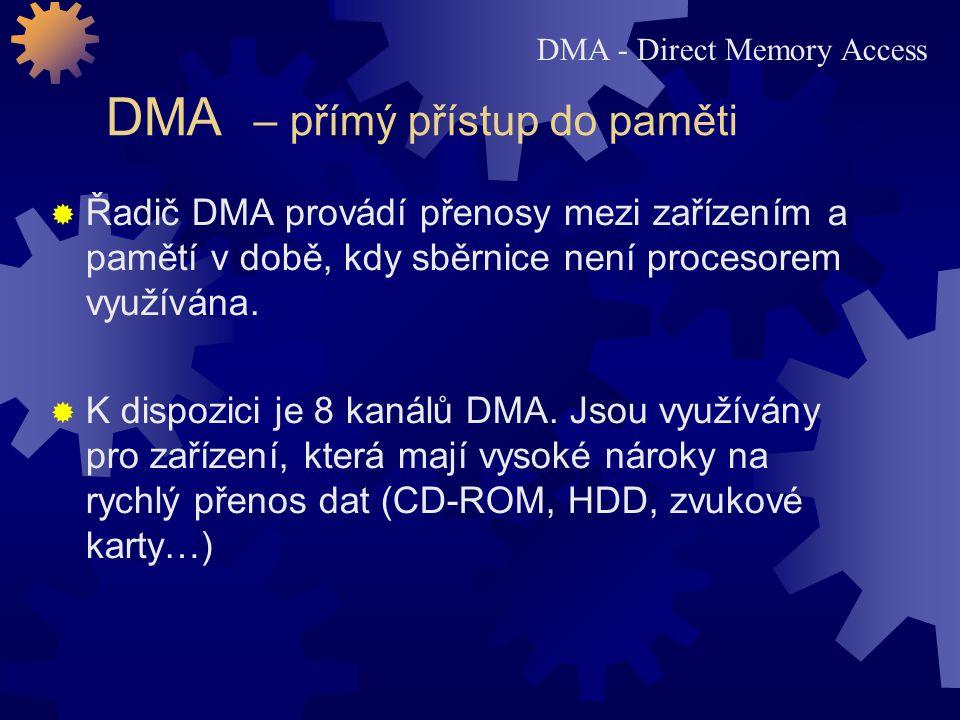 DMA – přímý přístup do paměti
