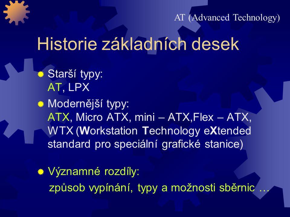 Historie základních desek