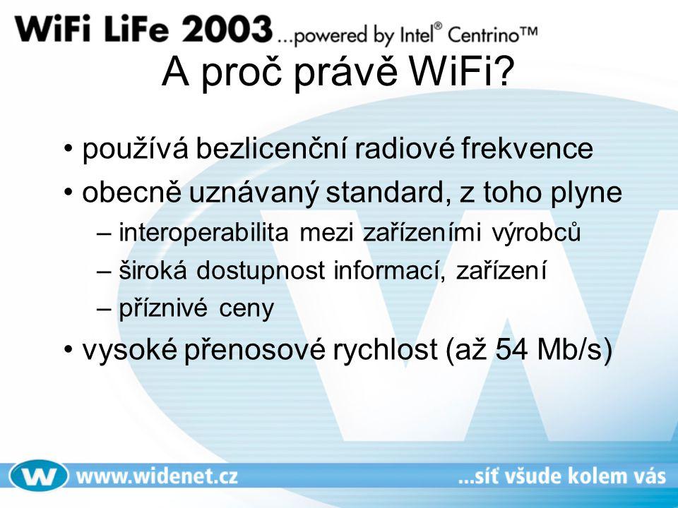 A proč právě WiFi používá bezlicenční radiové frekvence