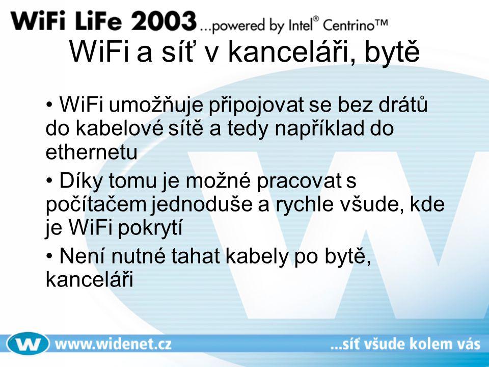 WiFi a síť v kanceláři, bytě