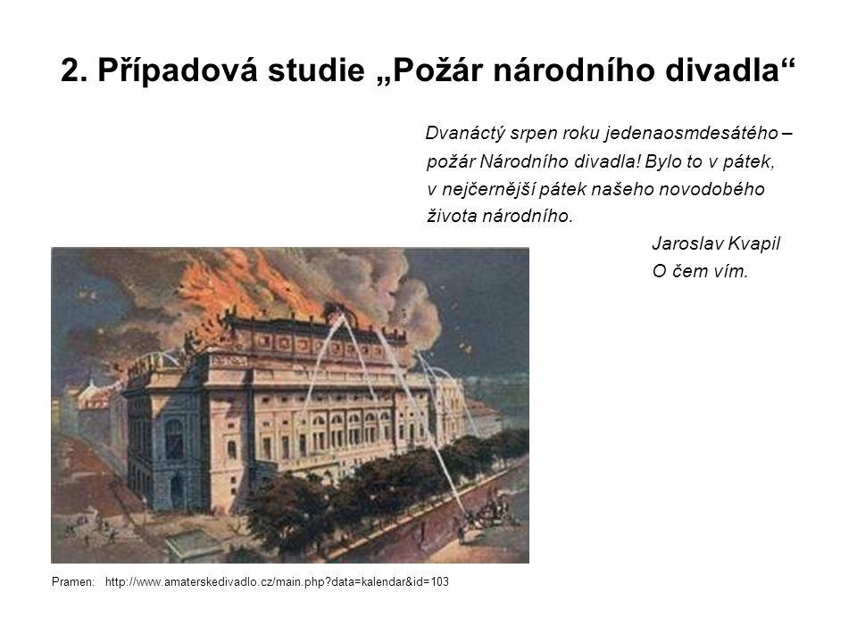 """2. Případová studie """"Požár národního divadla"""