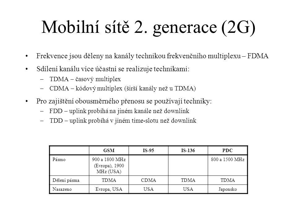Mobilní sítě 2. generace (2G)