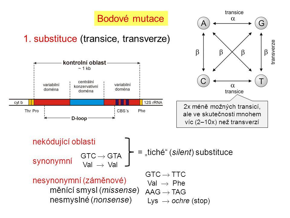1. substituce (transice, transverze)