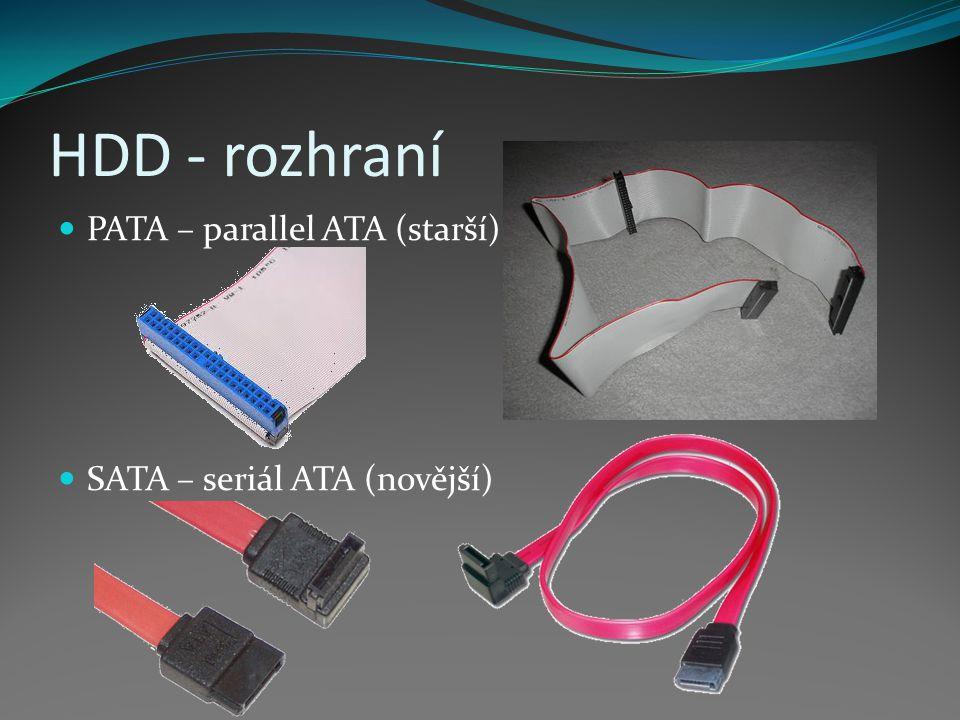 HDD - rozhraní PATA – parallel ATA (starší)
