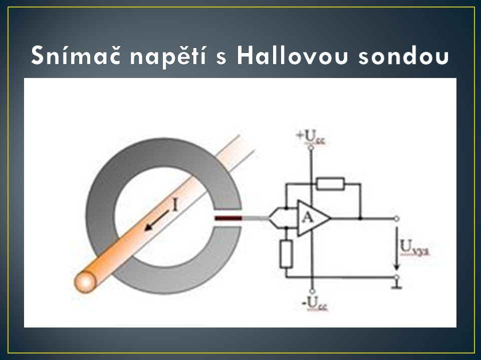 Snímač napětí s Hallovou sondou