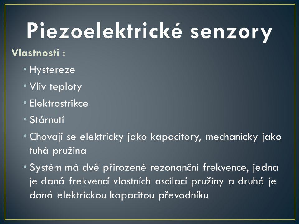 Piezoelektrické senzory