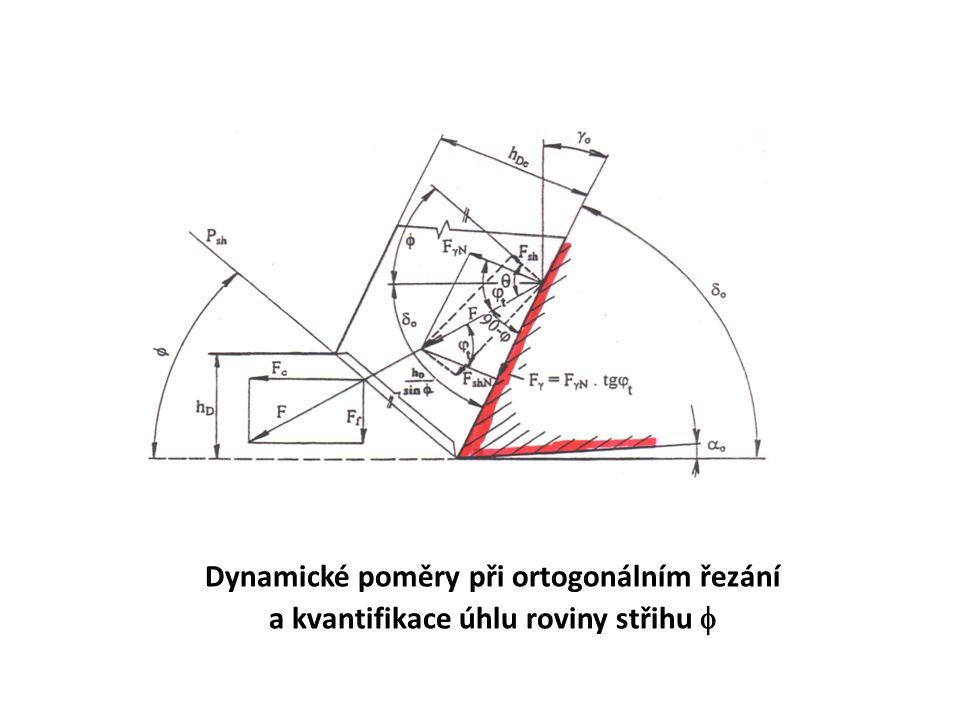 Dynamické poměry při ortogonálním řezání