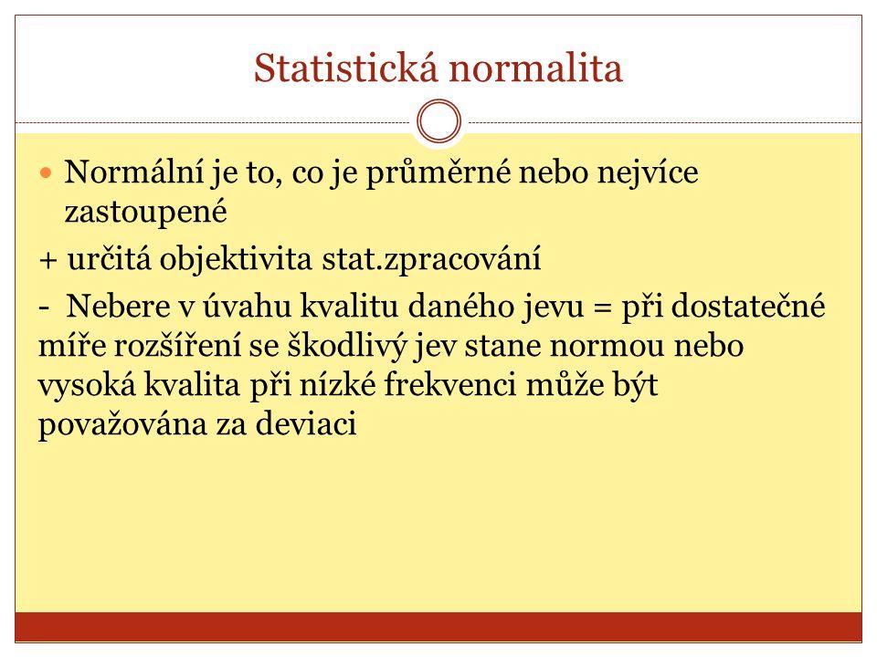 Statistická normalita