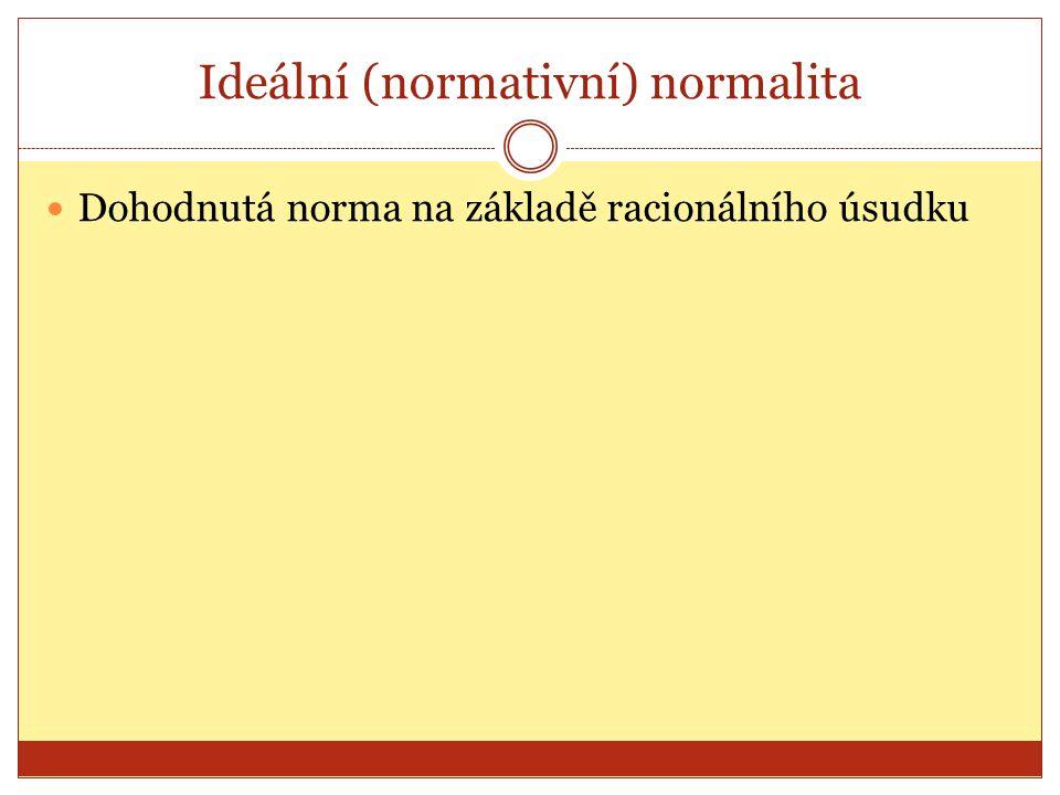 Ideální (normativní) normalita