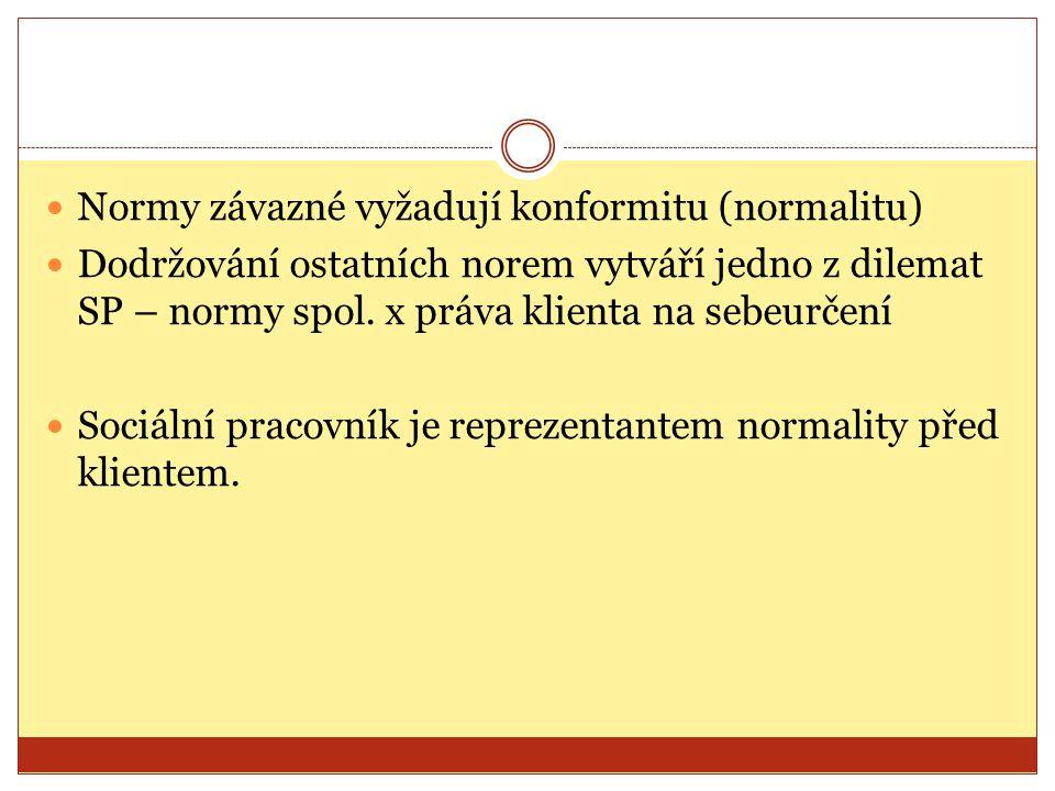 Normy závazné vyžadují konformitu (normalitu)