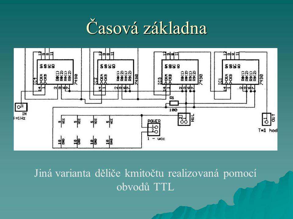 Jiná varianta děliče kmitočtu realizovaná pomocí obvodů TTL