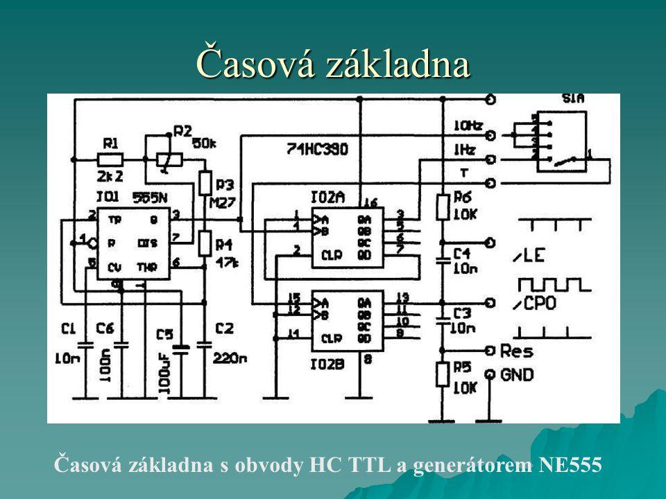 Časová základna Časová základna s obvody HC TTL a generátorem NE555