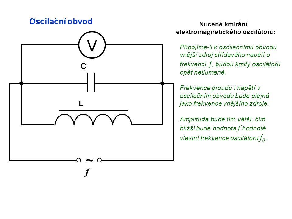 elektromagnetického oscilátoru: