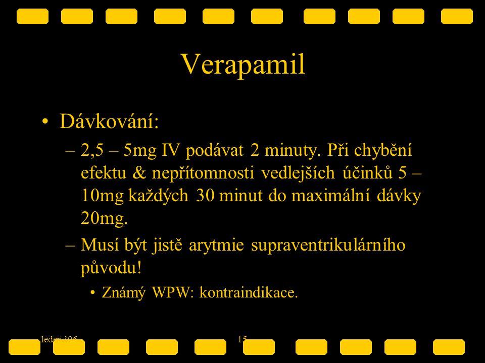 Verapamil Dávkování:
