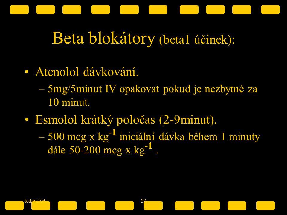 Beta blokátory (beta1 účinek):