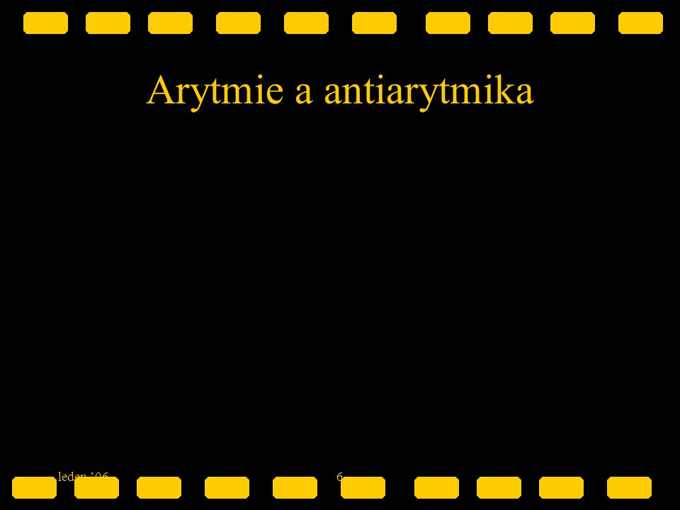 Arytmie a antiarytmika
