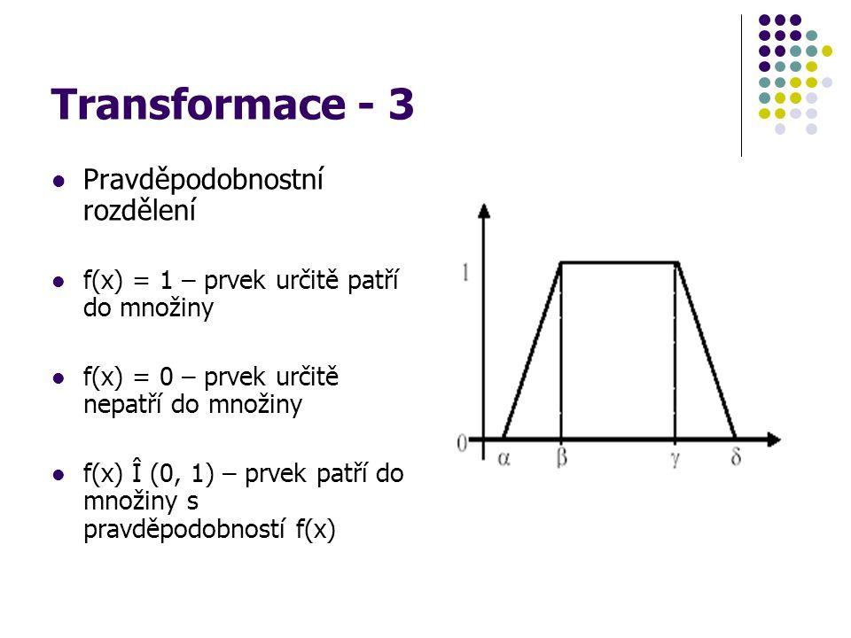 Transformace - 3 Pravděpodobnostní rozdělení