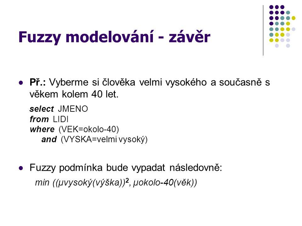 Fuzzy modelování - závěr