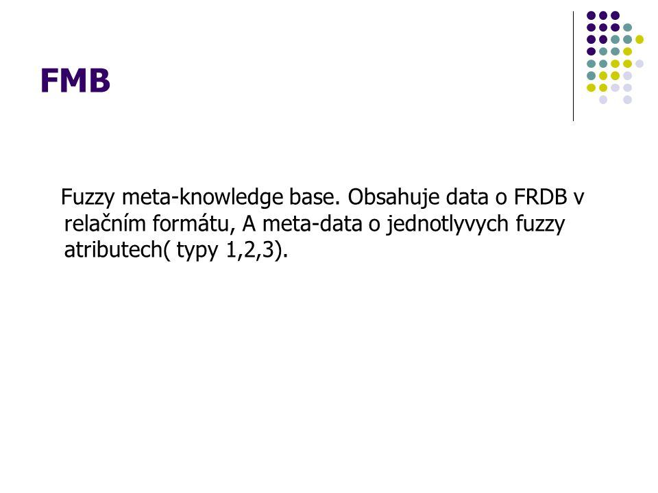 FMB Fuzzy meta-knowledge base.