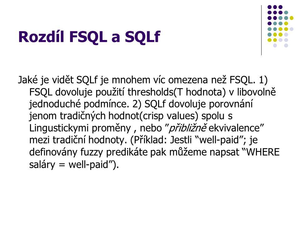 Rozdíl FSQL a SQLf