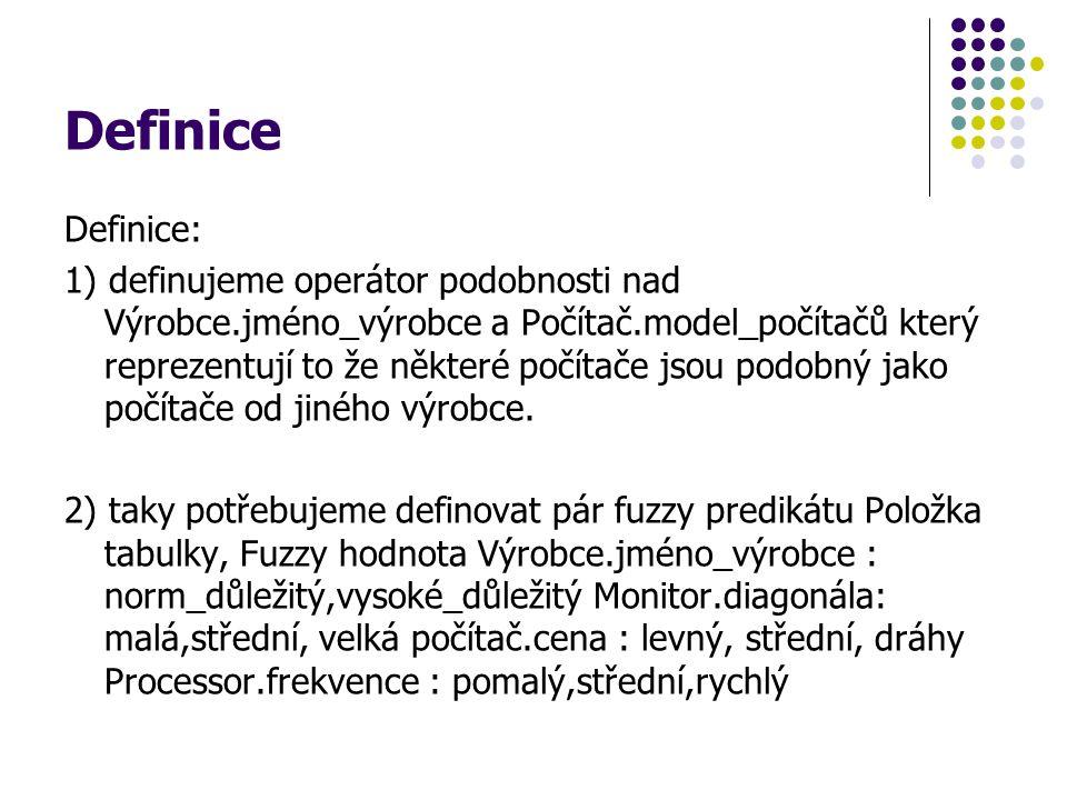 Definice Definice: