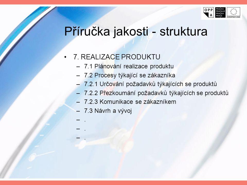 Příručka jakosti - struktura