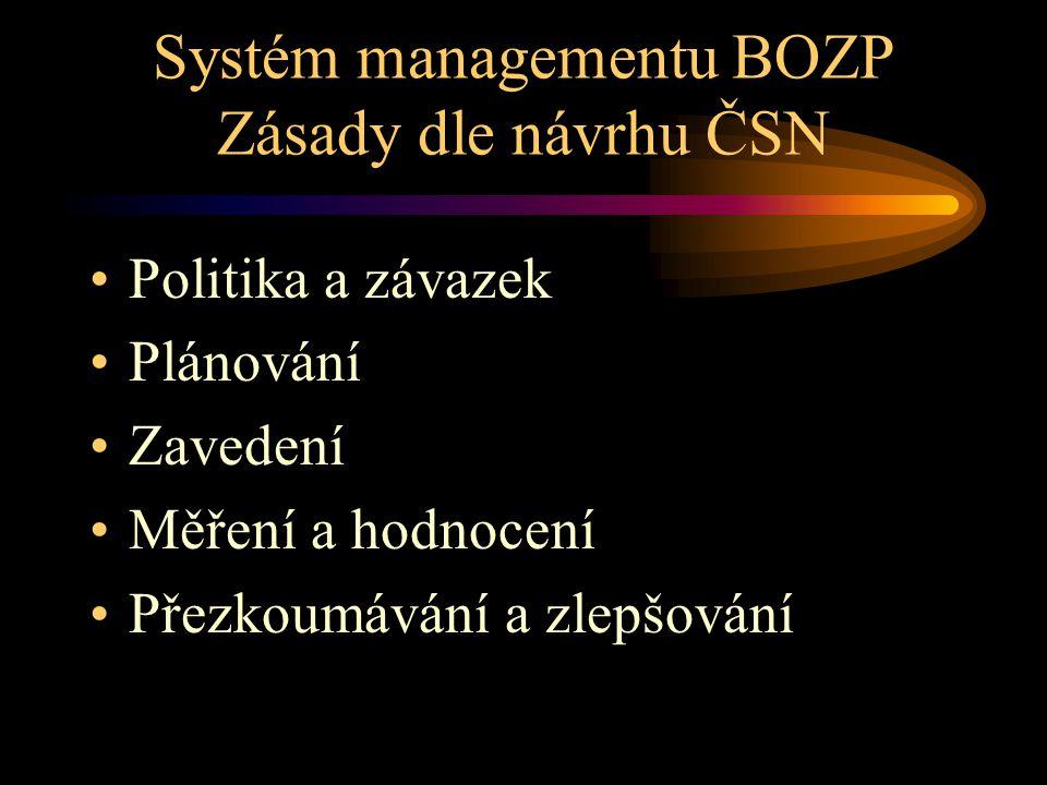 Systém managementu BOZP Zásady dle návrhu ČSN