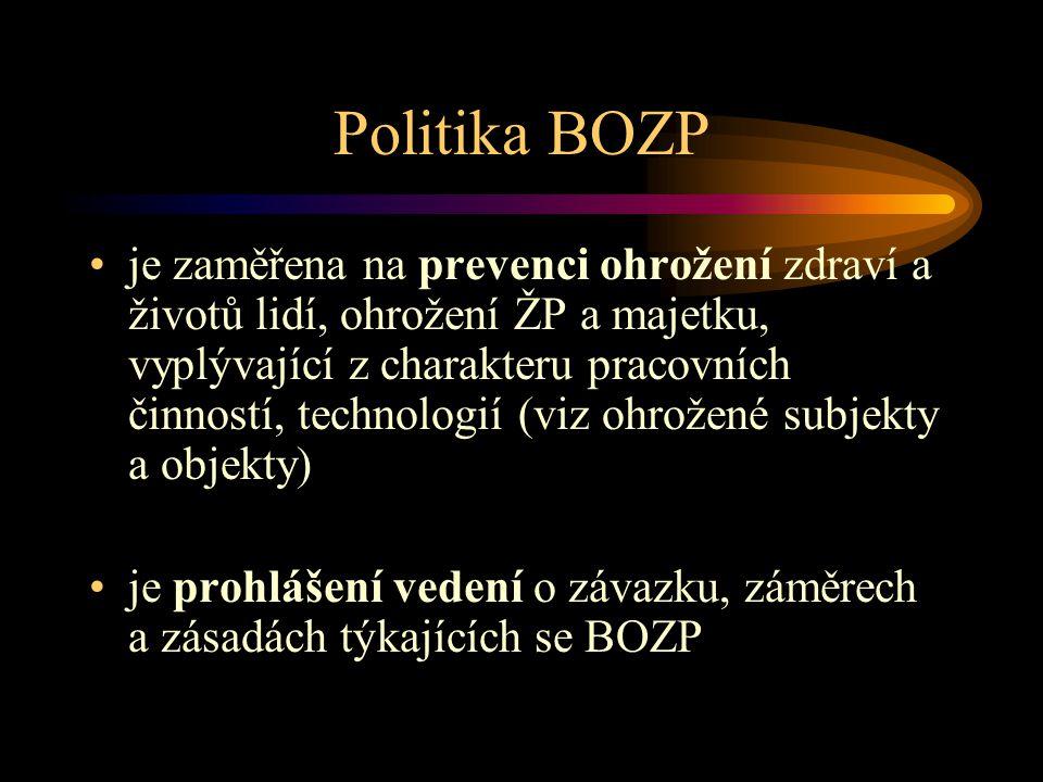 Politika BOZP