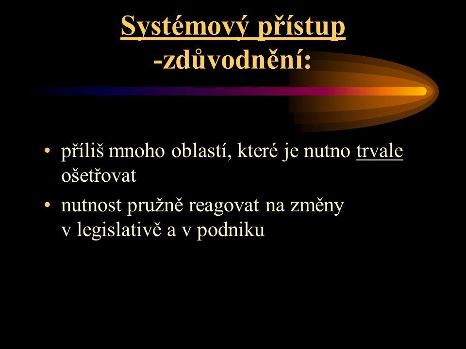 Systémový přístup -zdůvodnění: