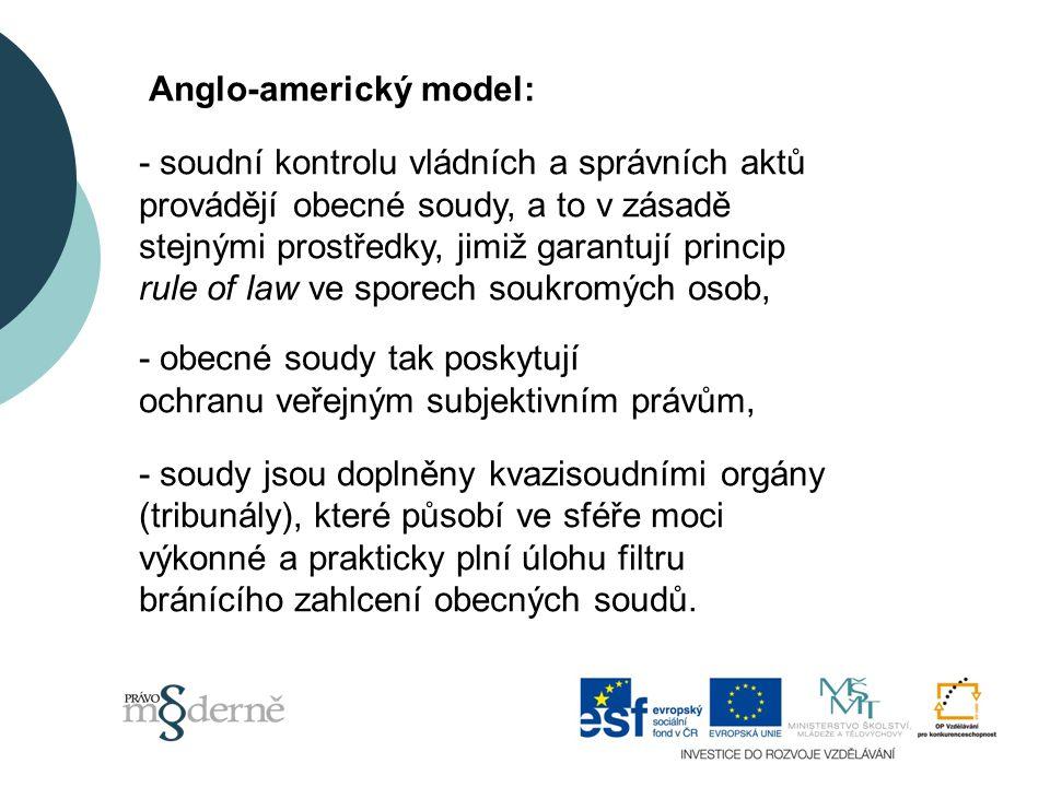 Anglo-americký model: