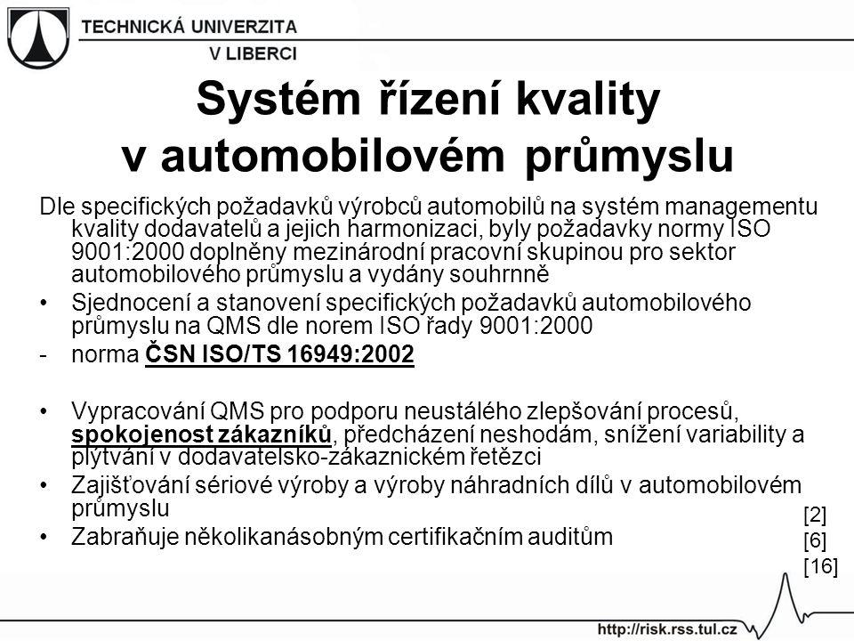 Systém řízení kvality v automobilovém průmyslu