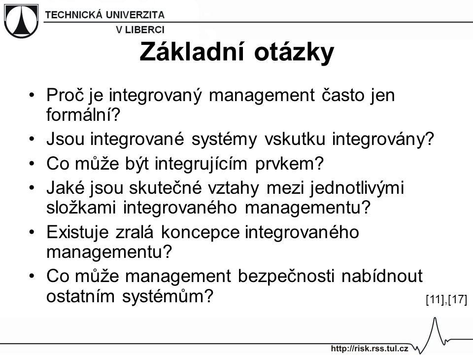 Základní otázky Proč je integrovaný management často jen formální