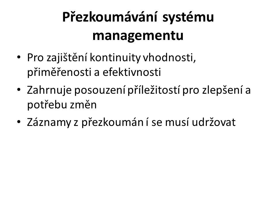 Přezkoumávání systému managementu