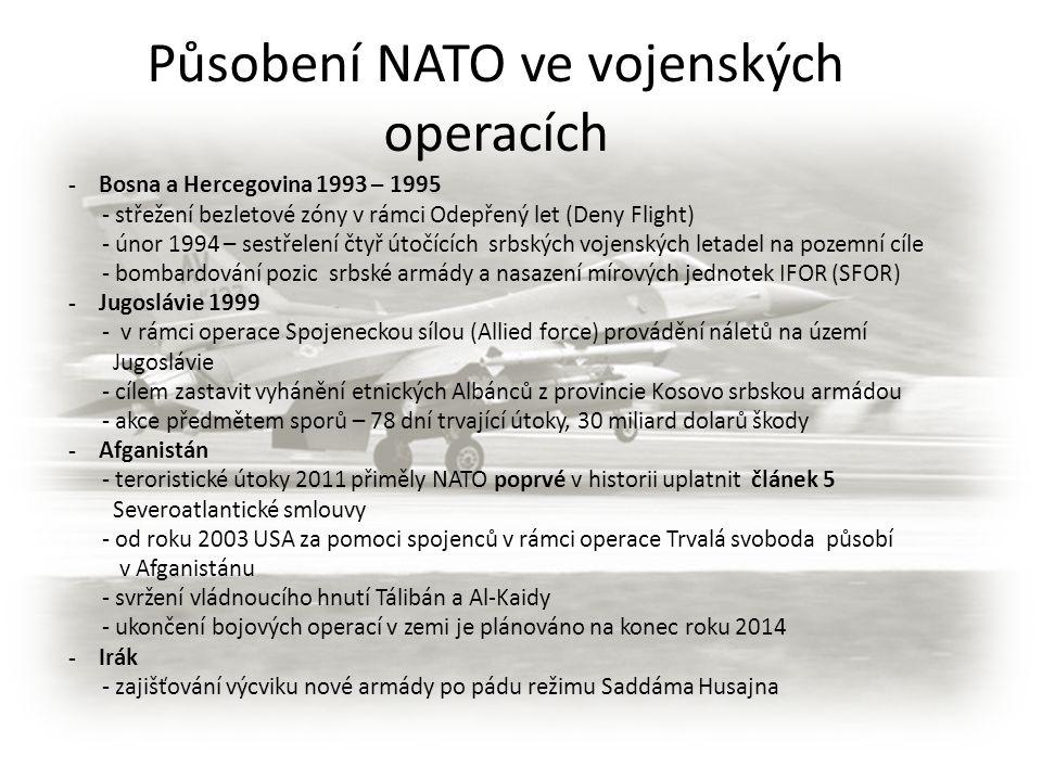 Působení NATO ve vojenských operacích