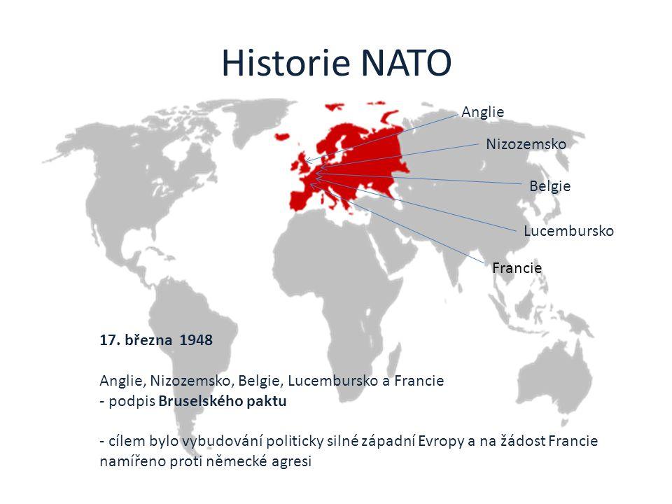 Historie NATO Anglie Nizozemsko Belgie Lucembursko Francie