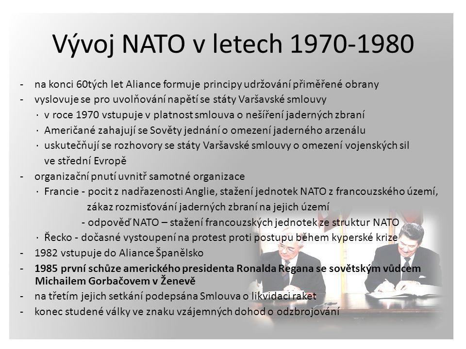 Vývoj NATO v letech 1970-1980