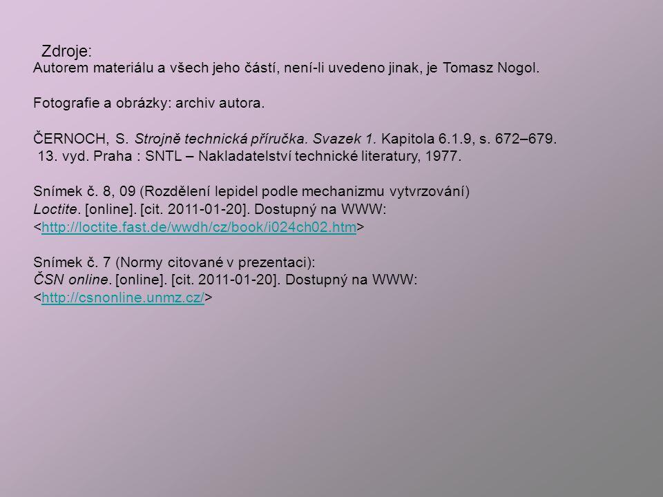 Autorem materiálu a všech jeho částí, není-li uvedeno jinak, je Tomasz Nogol.