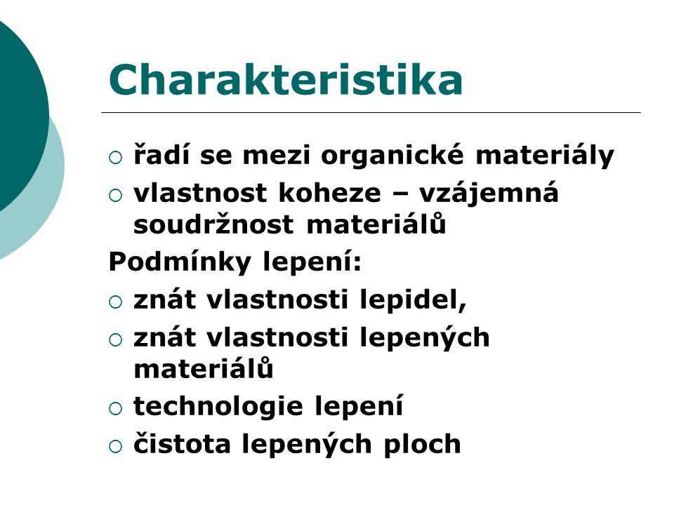 Charakteristika řadí se mezi organické materiály